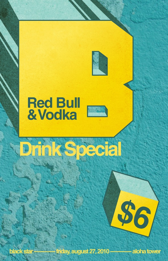 Red Bull Black Star Poster