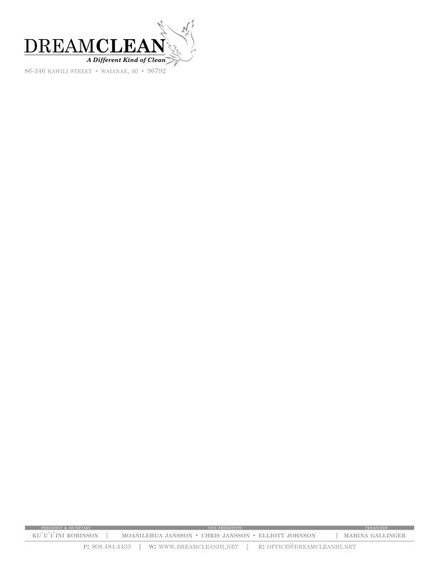 Dream_Clean_Incorporated_Letterhead