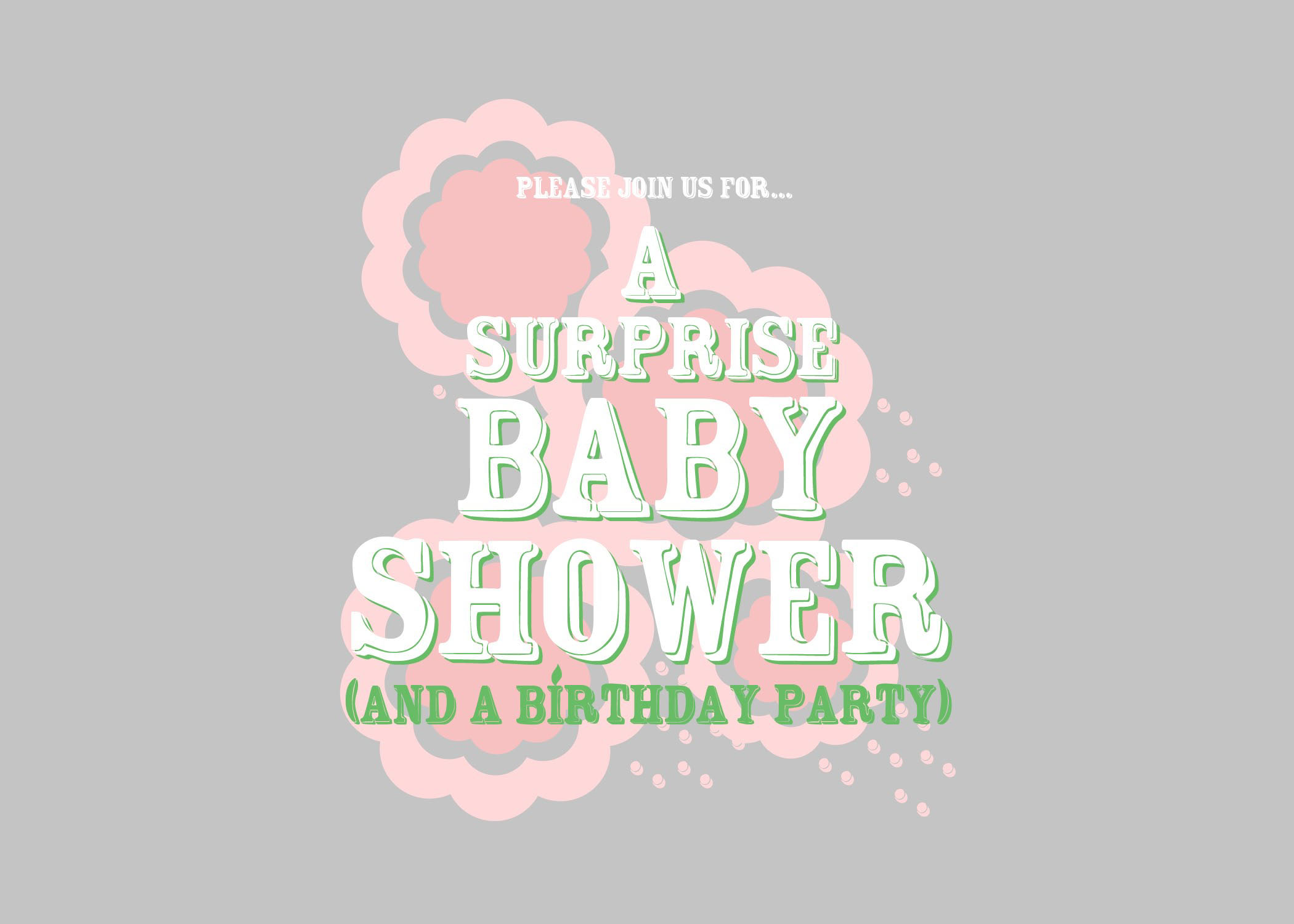 Baby Shower Invitation – Graphic Design Portfolio